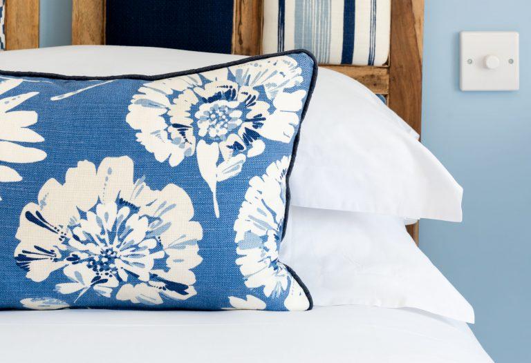 comfy blue cushion